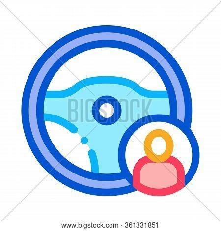 Personal Driver Icon Vector. Personal Driver Sign. Color Symbol Illustration