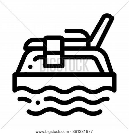 Underwater Tube Icon Vector. Underwater Tube Sign. Isolated Contour Symbol Illustration