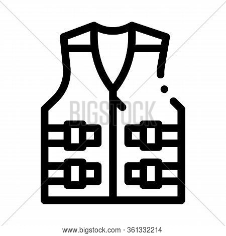 Life Vest Icon Vector. Life Vest Sign. Isolated Contour Symbol Illustration