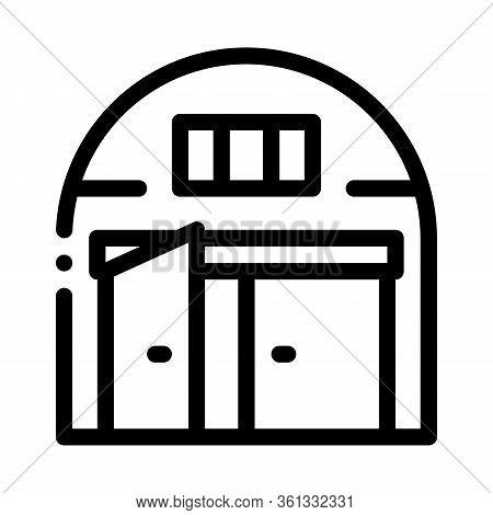 Car Garage Open Icon Vector. Car Garage Open Sign. Isolated Contour Symbol Illustration