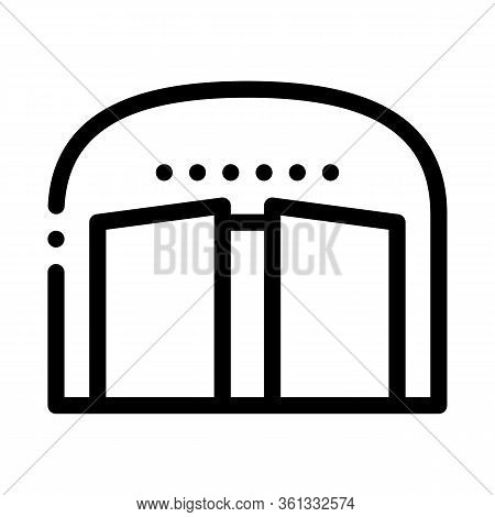 Opening Car Salon Icon Vector. Opening Car Salon Sign. Isolated Contour Symbol Illustration