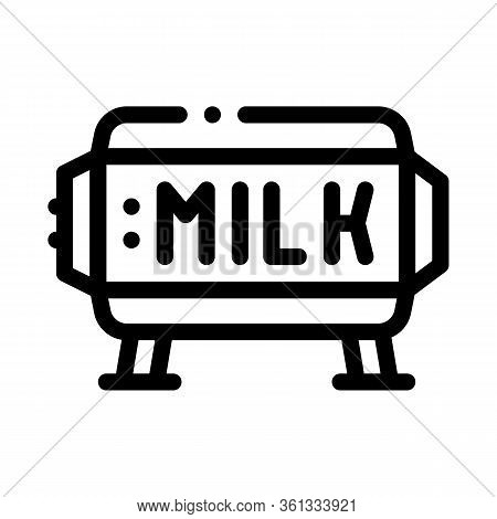 Amount Of Milk In Tank Icon Vector. Amount Of Milk In Tank Sign. Isolated Contour Symbol Illustratio