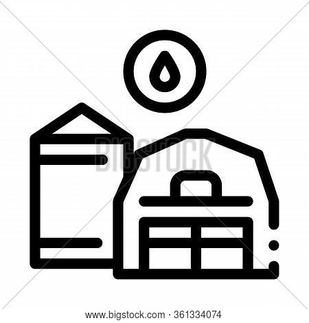 Farm Water Supply Icon Vector. Farm Water Supply Sign. Isolated Contour Symbol Illustration