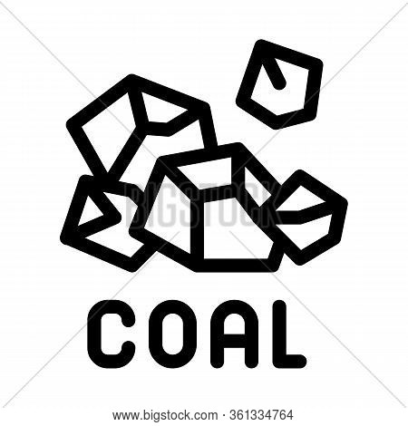 Coal Particles Icon Vector. Coal Particles Sign. Isolated Contour Symbol Illustration