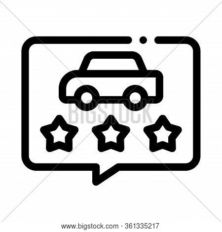 Car Quality Assessment Icon Vector. Car Quality Assessment Sign. Isolated Contour Symbol Illustratio