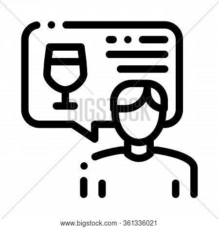 Representative Of Wine Icon Vector. Representative Of Wine Sign. Isolated Contour Symbol Illustratio