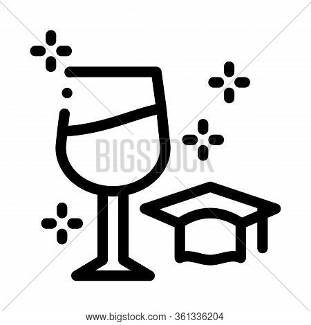 Wine Expert Taster Icon Vector. Wine Expert Taster Sign. Isolated Contour Symbol Illustration