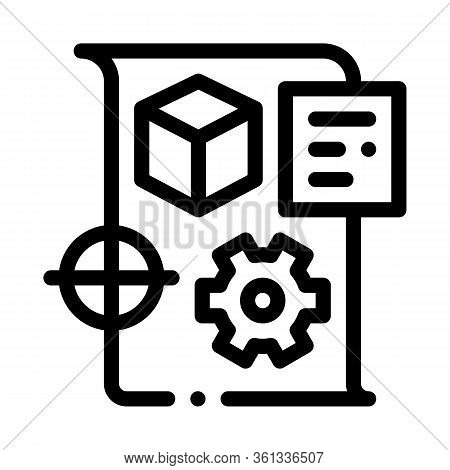 Technical Dispatch Icon Vector. Technical Dispatch Sign. Isolated Contour Symbol Illustration