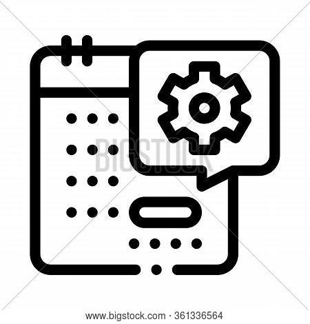 Technical Day On Calendar Icon Vector. Technical Day On Calendar Sign. Isolated Contour Symbol Illus