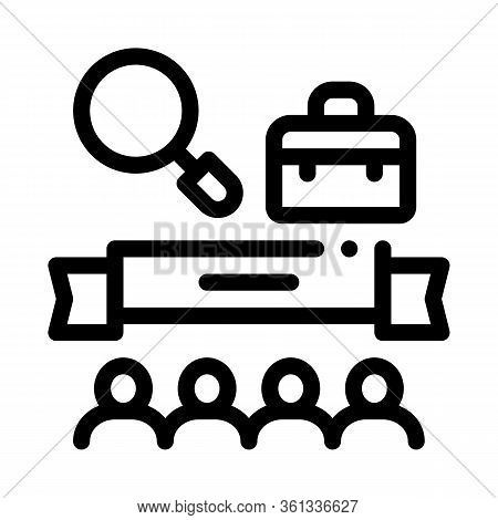 People Finish Research Icon Vector. People Finish Research Sign. Isolated Contour Symbol Illustratio
