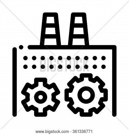 Technical Settings Of Thermal Power Plant Icon Vector. Technical Settings Of Thermal Power Plant Sig