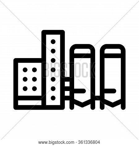 Thermal Towers With Heat Towers Icon Vector. Thermal Towers With Heat Towers Sign. Isolated Contour