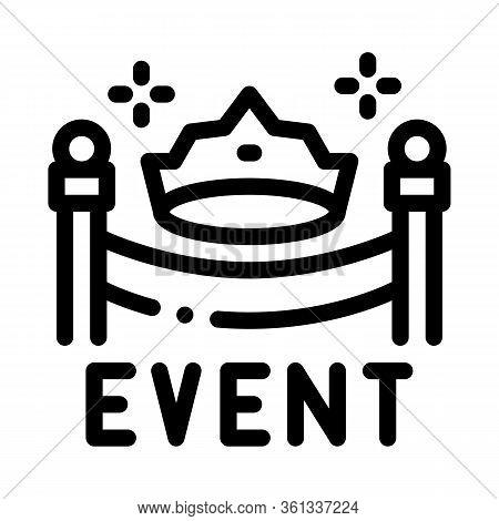 Solemn Presentation Event Icon Vector. Solemn Presentation Event Sign. Isolated Contour Symbol Illus