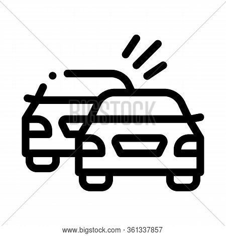 Overtaking Previous Car Icon Vector. Overtaking Previous Car Sign. Isolated Contour Symbol Illustrat