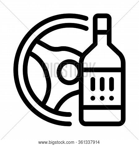 Drunk Driving Icon Vector. Drunk Driving Sign. Isolated Contour Symbol Illustration