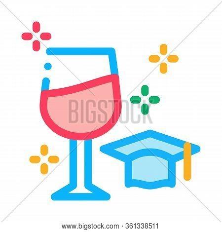 Wine Expert Taster Icon Vector. Wine Expert Taster Sign. Color Symbol Illustration