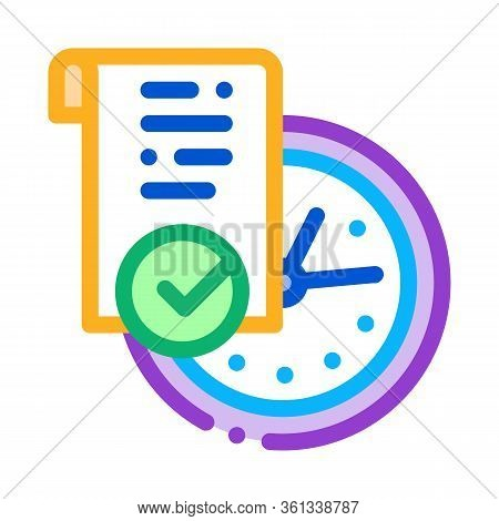 Temporary Document Icon Vector. Temporary Document Sign. Color Symbol Illustration
