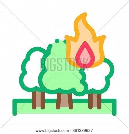 Wildfire Icon Vector. Wildfire Sign. Color Symbol Illustration