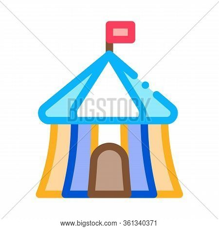 Circus Outside View Icon Vector. Circus Outside View Sign. Color Symbol Illustration