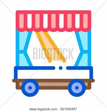 Mobile Puppet Theater Icon Vector. Mobile Puppet Theater Sign. Color Symbol Illustration