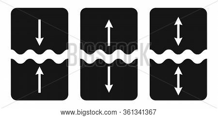 Set Of Icons Cut, Join, Vector Symbol Of Separation, Gluing, Object Parts Sign Of Welding And Tearin