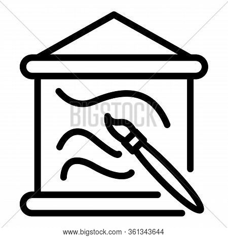 French Paintbrush Painting Icon. Outline French Paintbrush Painting Vector Icon For Web Design Isola