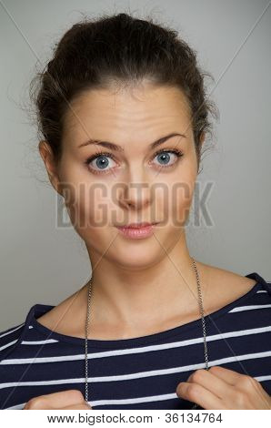 Ironic Smiling Girl