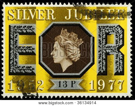 Postage Stamp Silver Jubilee Queen Elizabeth 2Nd