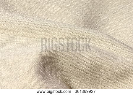 Beige Abstract Background. Beige Synthetic Fabric Texture, Background. Beige Fabric