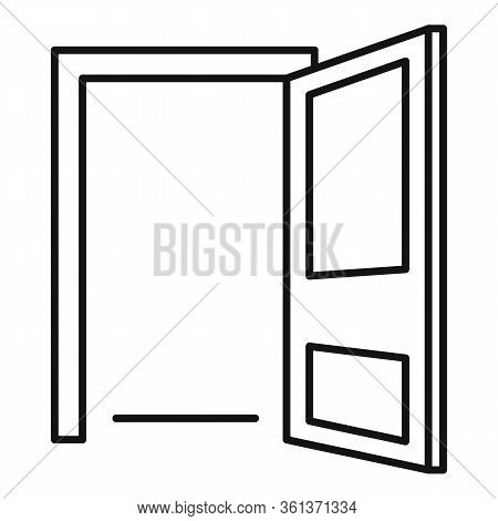 Hotel Door Entrance Icon. Outline Hotel Door Entrance Vector Icon For Web Design Isolated On White B