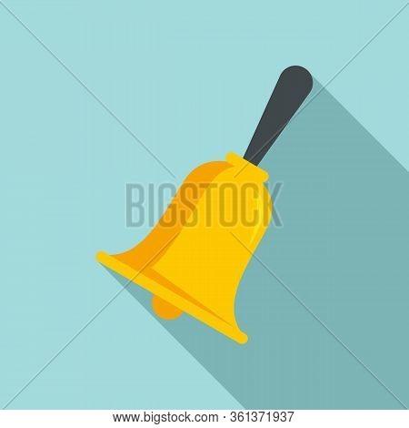 School Lesson Bell Icon. Flat Illustration Of School Lesson Bell Vector Icon For Web Design