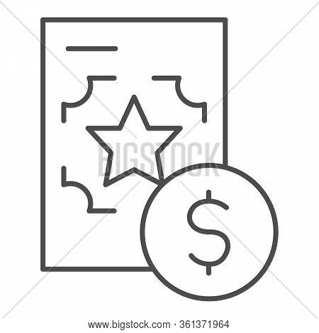 Best Recruitment Offer Thin Line Icon. Document With Valuable Info Outline Style Pictogram On White
