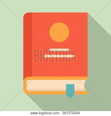 Lesson Book Icon. Flat Illustration Of Lesson Book Vector Icon For Web Design