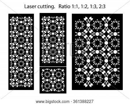Lazer Cut Decorative Vector Panel Set. Jali Design, Cnc Decor, Interior Design Element. Islamic, Ara