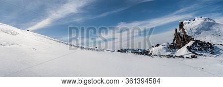 Abstract View Of Wild Untouched Freeze Mountain Range Alpes Landscape