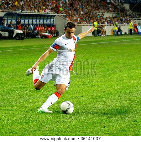 Odessa, Ukraine - August 19, 2012: Dario Srna, Shakhtar Captain Of The Football Team To The Champion