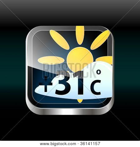 Vector Weather App Icon