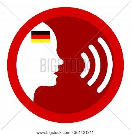 Speak German - Voice Icon - German Flag - Speech - Germany