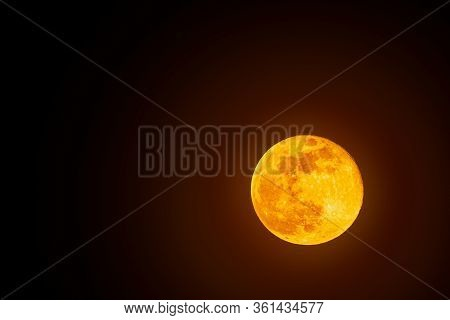 Super Moon, Full Moon Shoot In Austria 2020. Astronomy Concept