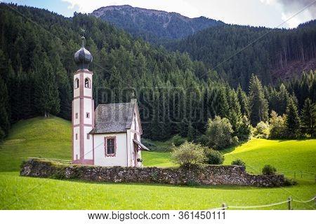 View Of St Johann Church, Santa Maddalena, Val Di Funes