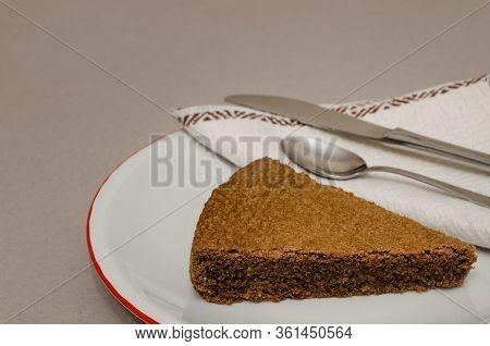 Torta Di Nocciole, Traditional Hazelnut Cake Made With Nocciola Piemonte Igp (also Known As Tonda Ge