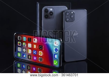 Galati, Romania - March 23, 2020: Apple Launch The New Smartphone Iphone 11 Pro And Iphone Xs Max. I