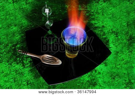 Burning absinthe