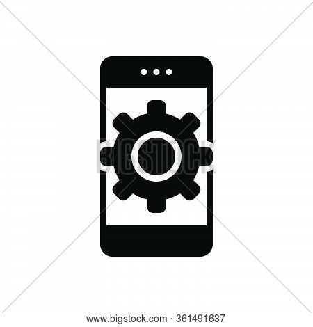 Black Solid Icon For Customize App Mobile Phone