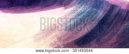 Abstract Watercolor Background On Textured Paper. Delicate Pink Backdrop With Rich Dark Stain In Upp