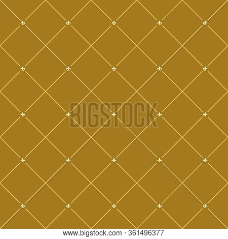 Seamless Royal Lilly Pattern Background. Heraldic Backdrop