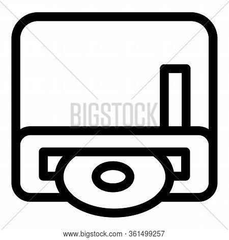Portable Disk Writer Icon. Outline Portable Disk Writer Vector Icon For Web Design Isolated On White