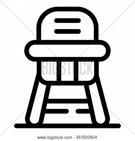 Dinner Feeding Chair Icon. Outline Dinner Feeding Chair Vector Icon For Web Design Isolated On White