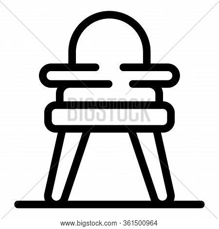 Plastic Feeding Chair Icon. Outline Plastic Feeding Chair Vector Icon For Web Design Isolated On Whi