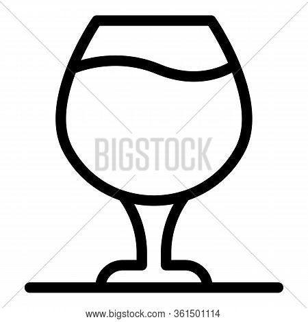 Brandy Glass Icon. Outline Brandy Glass Vector Icon For Web Design Isolated On White Background